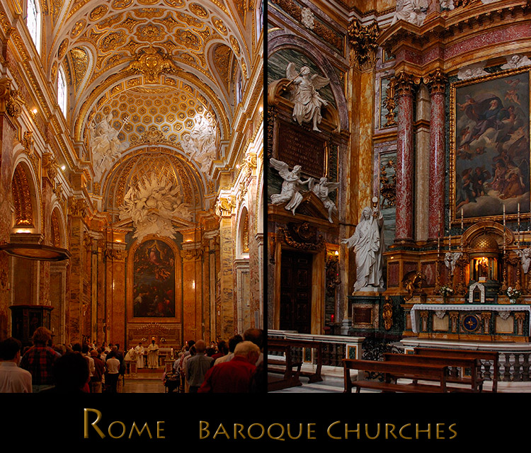 Roman catholic church art by period for Churches of baroque period