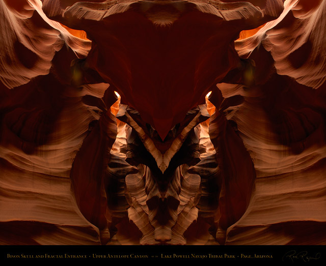 Antelope_Canyon_Bison_Skull_and_Fractal_Entrance_X2446M
