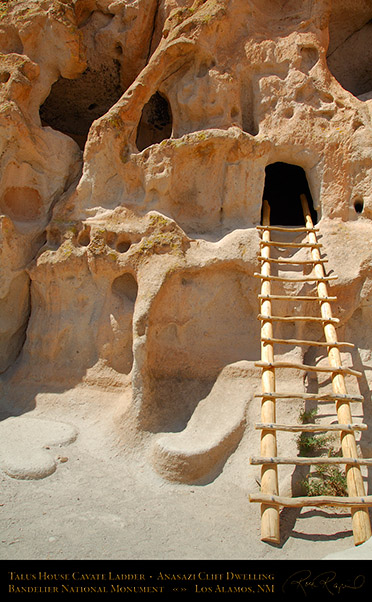 Talus_House_Cavate_Ladder_Bandelier_X5210