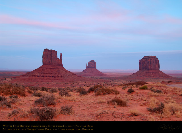 Monument_Valley_Mittens_and_Merrick_Butte_at_Dusk_X1708