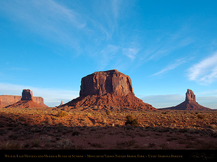 Monument_Valley_Sunrise_Merrick_Butte_and_Mittens_X9927