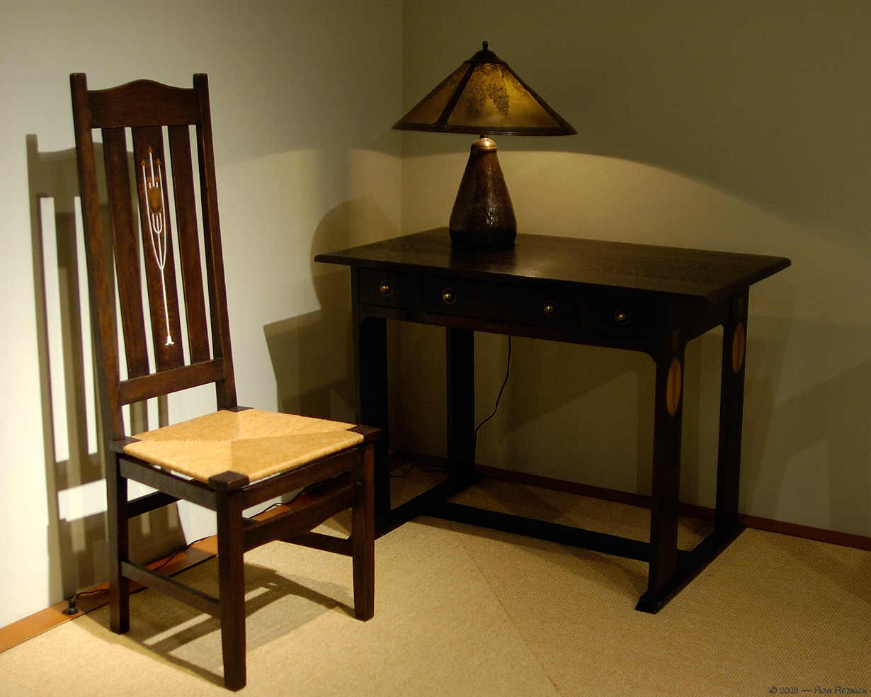 Stickley Chair, Palmer Lamp