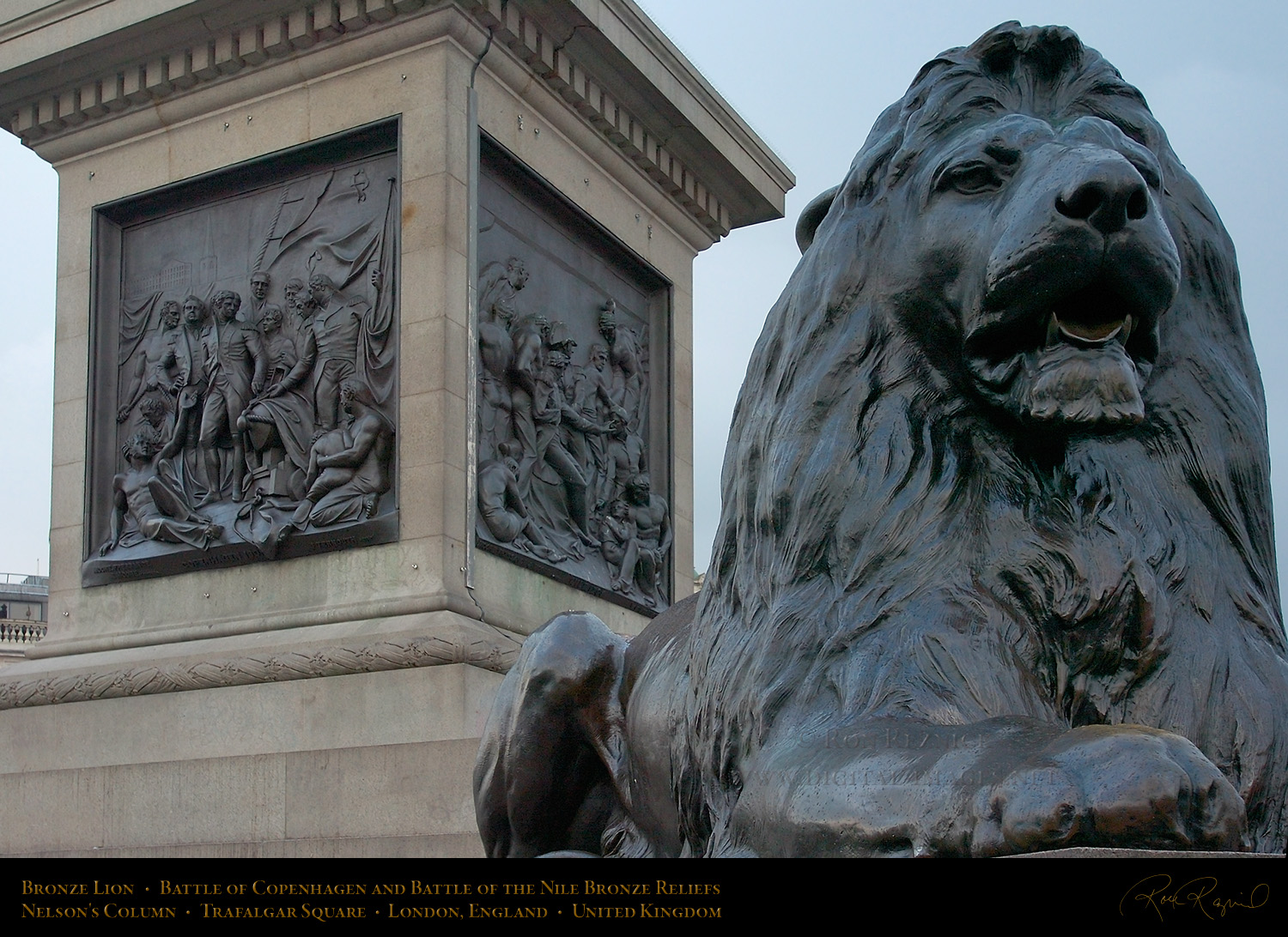 Trafalgar Square Lions Drawing Trafalgar Square Lion 0761