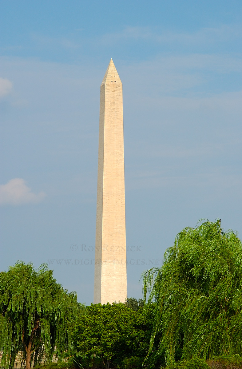Washington Monument, Jefferson and Lincoln Memorials