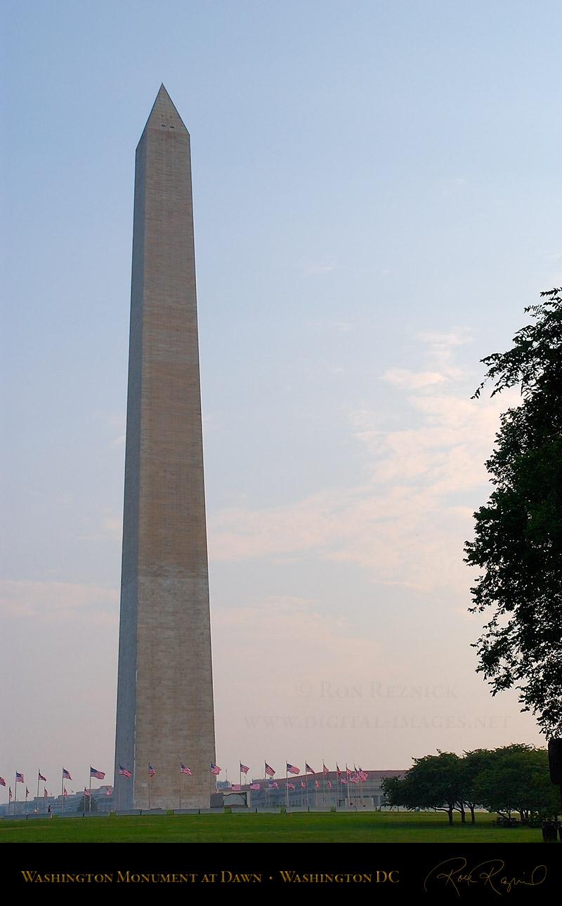 Washington Monument, Jefferson and Lincoln Memorials